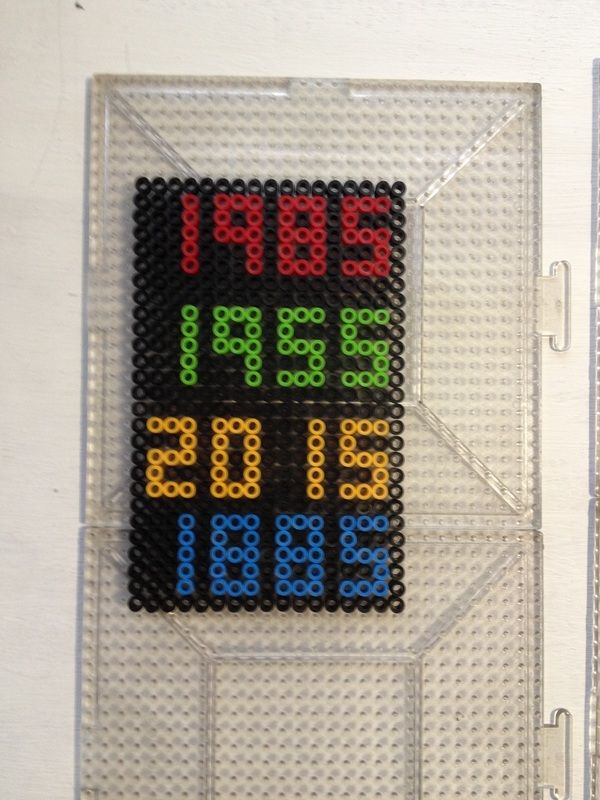 Back to the Future Perler Bead Project by Kyle McCoy