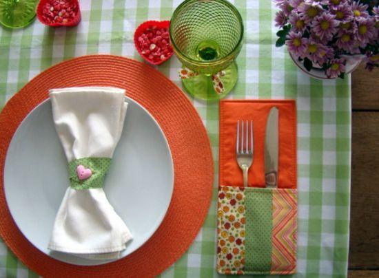 Como fazer porta talheres para decorar mesa linha de for Como criar caracoles de jardin