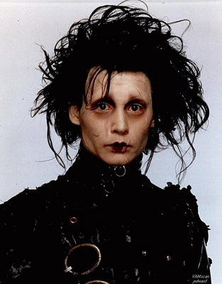 Edward Scissorhands  -first film breakthrough of Johnny Depp with Director Tim Burton.  It was also Burton's first time to work with then teen idol Johnny Depp and the later was happy of wearing off that image because he wanted to venture in real acting.  Excellent performance JD!