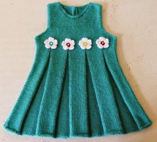 Elzemhobby: Minik Kızlara Örgü Jile-Lace dress