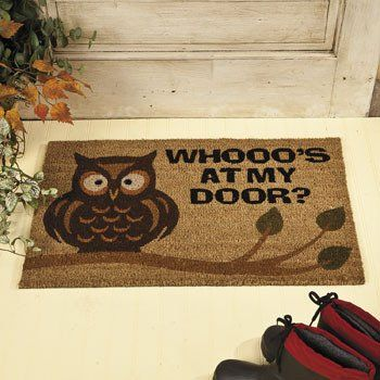 Owl Welcome Mat Rugs And Window Treatments Home U0026 Kitchen