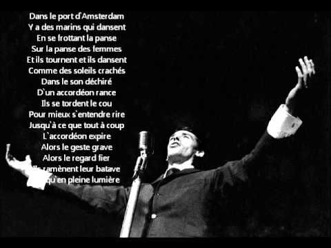21 best images about parole de chansons fran aises on - Jacques brel dans le port d amsterdam lyrics ...