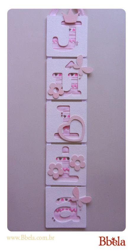 Porta de maternidade Vertical - Menina