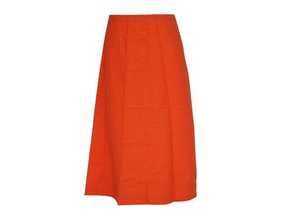 Readymade Cotton Petticoat/inskirt for saree, Pure Cotton Petticoats, Women Petticoats, High quality, Skirt Sari, orange Petticoats by JahanviFashionShop on Etsy