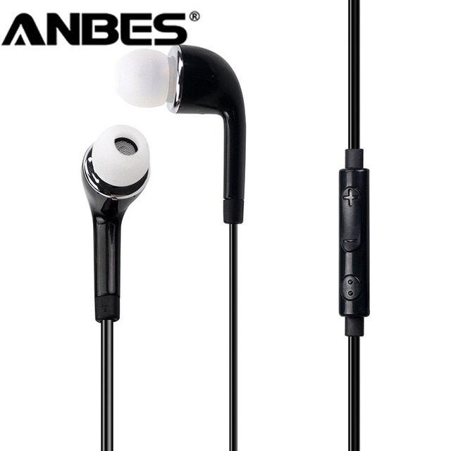 3 5mm Jack Wired Earphones With Mic Super Bass Headset Hands Free Sport Headphones For Samsung Galaxy S6 S3 S4 Note Headphones Earphones Wire Music Headphones