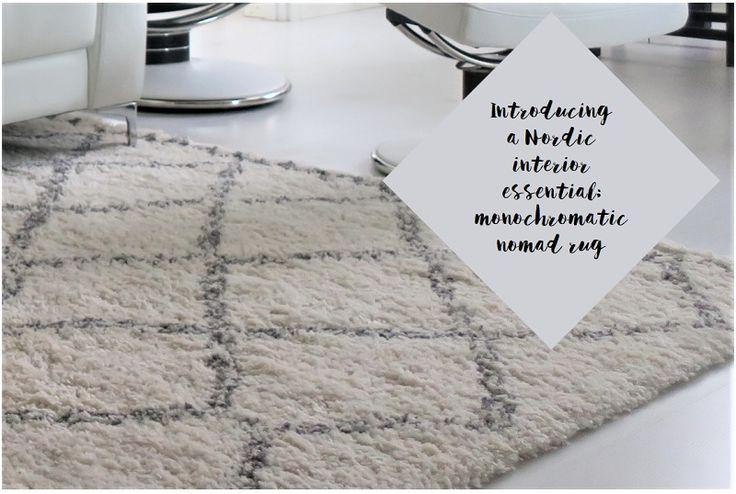 Nordic interior essential: monochromatic nomad rug - Helsinki Dragonfly Alvar Aalto , ellos , Helsinki , home , interior , koti , marokkolainen , matto , monochromatic , moroccan , nomad , nordic , paimentolaismatto , pohjoismaalainen , rug , sisustus