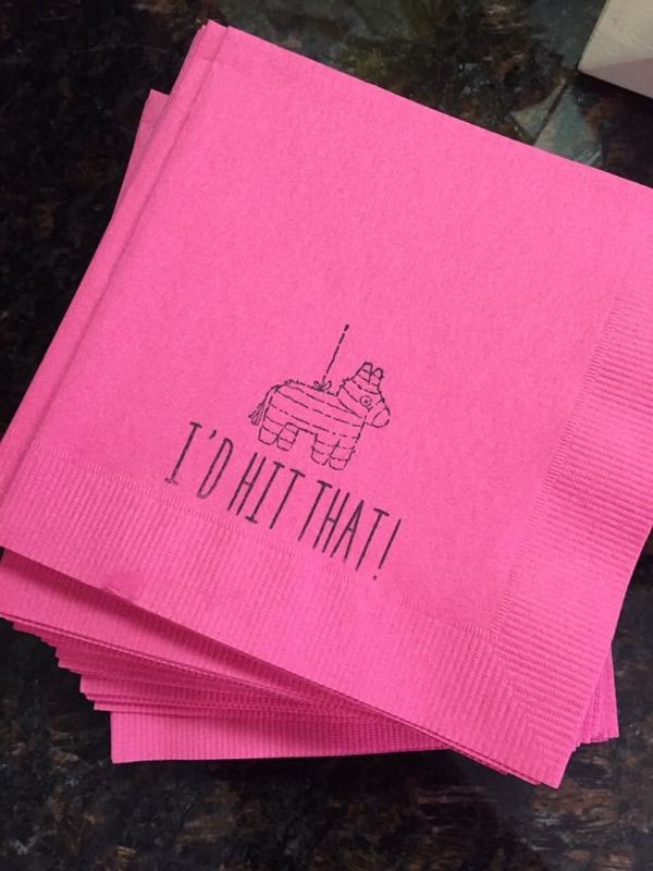 I'D HIT THAT! Piñata Fiesta Cocktail Napkin, Set of 50