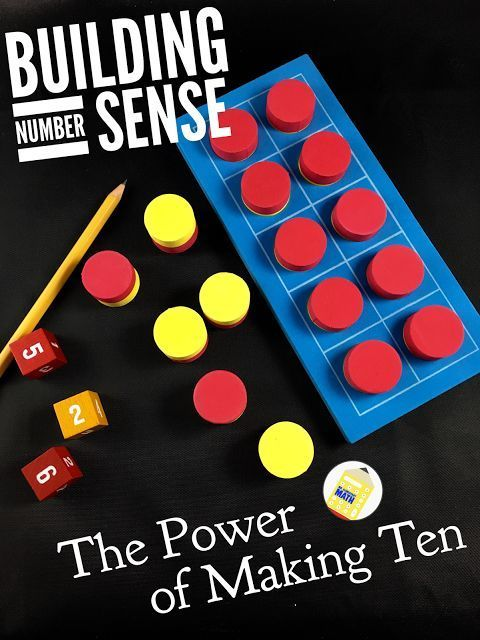 Build Number Sense - What is Ten-ness? When kids develop the concept of ten-ness, they have a deeper understanding of number relationships.  They are also better equipped to perform mental math. Making 10 is a powerful strategy to help develop this math skill. Find out more in this blog post. http://mrelementarymath.blogspot.com/2015/12/the-power-of-making-tens.html Don't forget to grab the FREE addition game Find the Ten Within. Check out other great ideas in the I Teach 1st Grade link up.
