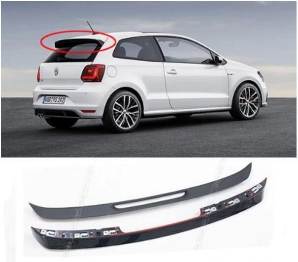 1pcs Abs Black Car Rear Wing Trunk Spoiler For Volkswagen Vw Polo