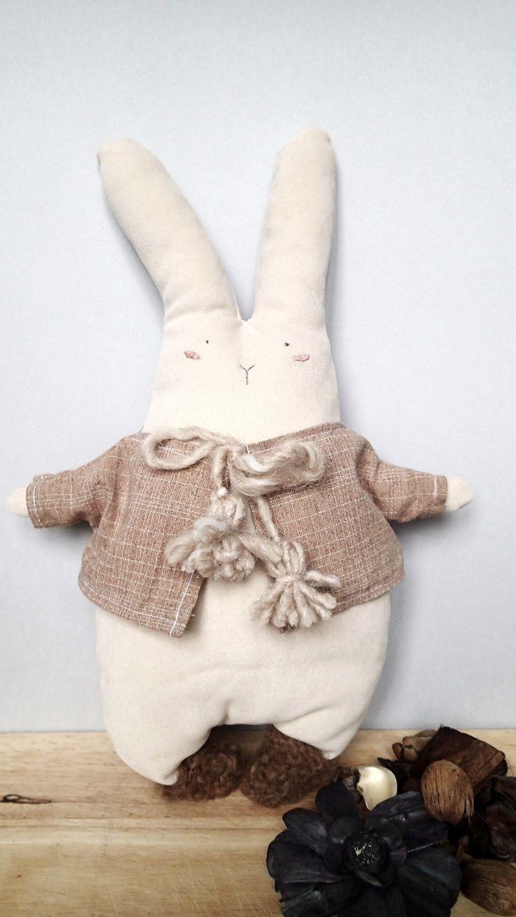 Handmade cuddler from Italy! Giorgio The Bunny.