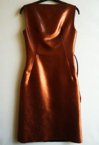 copper dress • jil sander