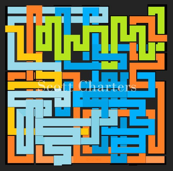 Downloadable Maze Art Print One of the Four by ScottLCharters