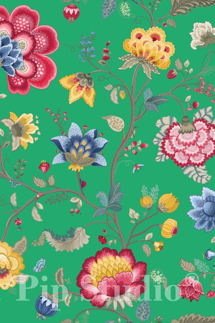 PiP Floral Fantasy   Green Wallpaper   PiP Studio ©