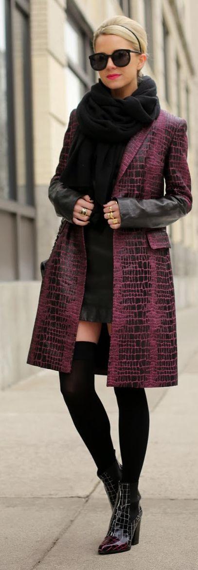 Calypso Scarf +  DVF Borrowed Coat + Gap Dress + OTK Socks + Kenzo Booties by Atlantic - Pacific