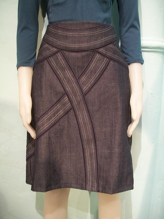 Denim skirtstraight skirt with curvy bias by goodtimesbarcelona