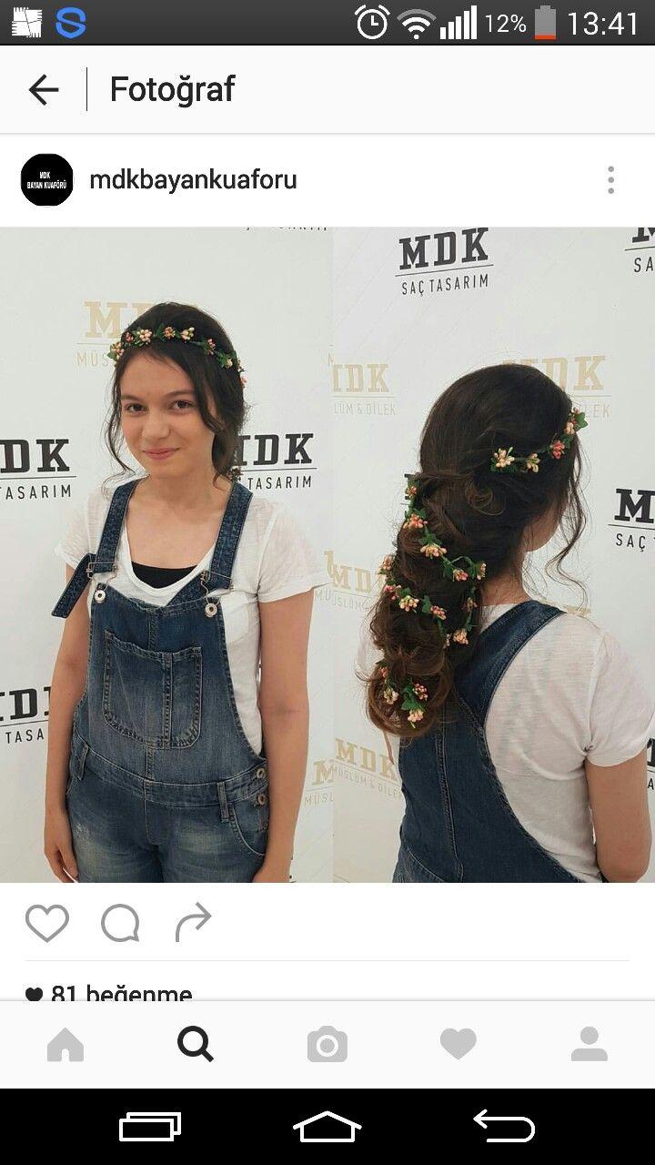Kızımın balo  saçı
