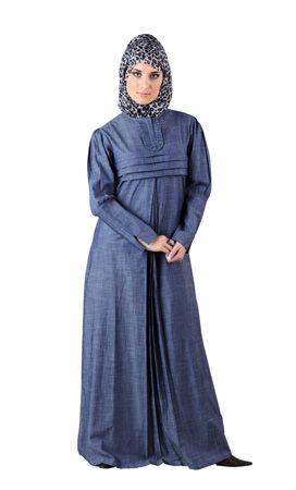 Trimmed to tea-length, I think.  Naureen Maternity Abaya | Women | Eastessence.com