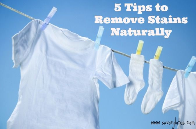REALLY fantastic tips for naturally removing stains from laundry.