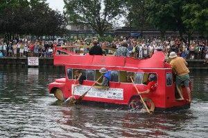 The Cardboard Boat Race in Orillia, Ontario, Canada