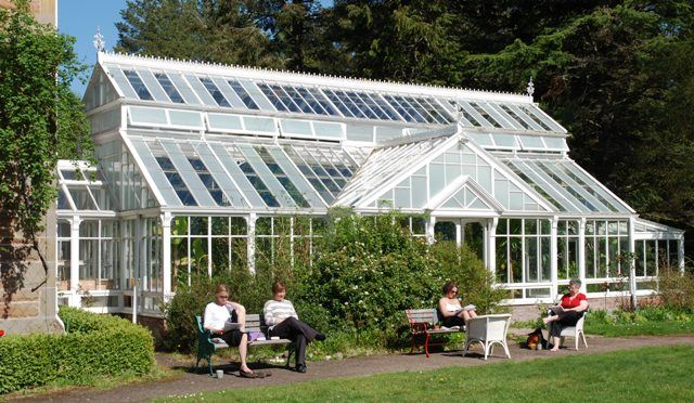 Fabulous example of a crystal palace at Newbold House Scotland. Taking a group of writing students here in August 2013.