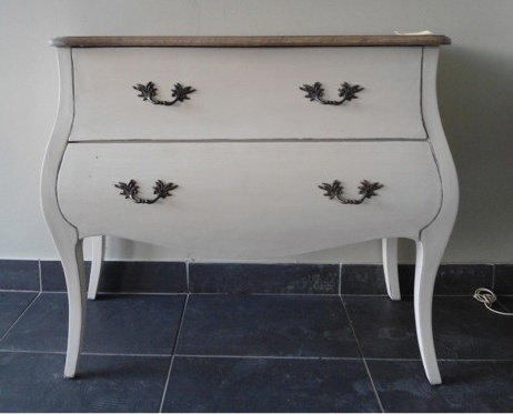 Latte Commode with Oak Top