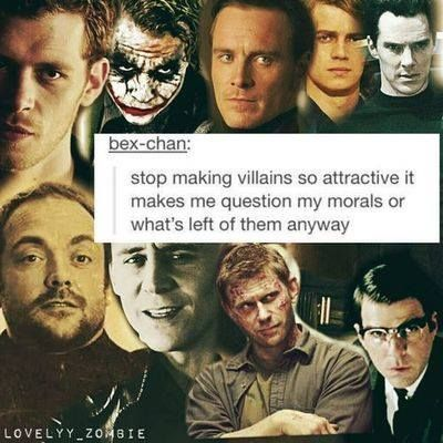 Ok, I get all of them except the joker... People find him attractive? Not judging but......WHAT...