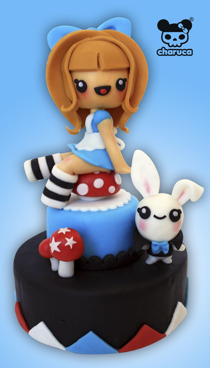 #charuca cake #Alice in wonderland ^^