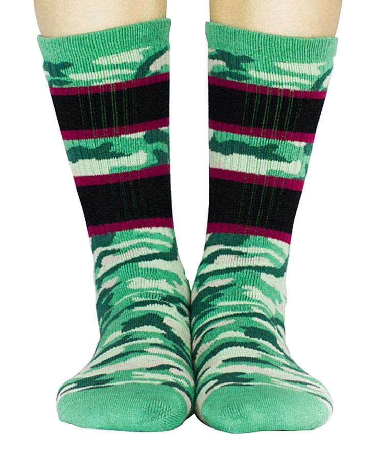 Look at this #zulilyfind! Arthur George by Robert Kardashian Green Marbled Warrior Crew Socks by Arthur George by Robert Kardashian #zulilyfinds