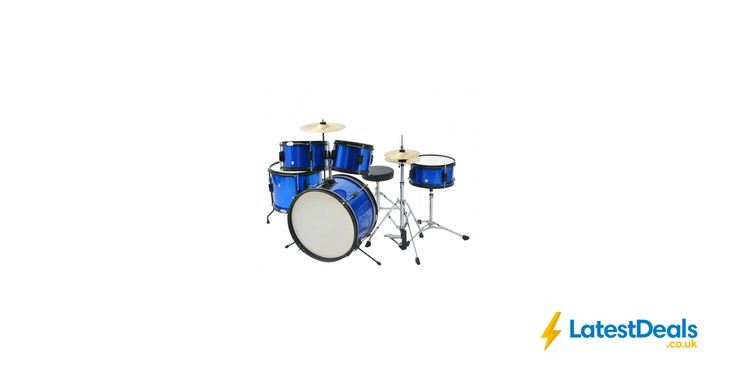 vidaXL Complete Drum Kit Powder-coated Steel Blue Junior Free Delivery, £126.99