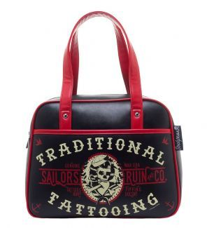 This faux leather handbag features sturdy handles and various pockets, and is roomy enough for anything you'd like to carry with you! £34.99 http://www.badsheepboutique.com/sailors-ruin-bowler-bag-799-p.asp