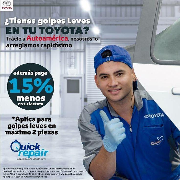 ¿Tienes golpes leves en tu #Toyota ? Tráelo a #Autoamérica , nosotros lo arreglamos rapidísimo. http://ow.ly/987A30ciGCu #QuickRepair