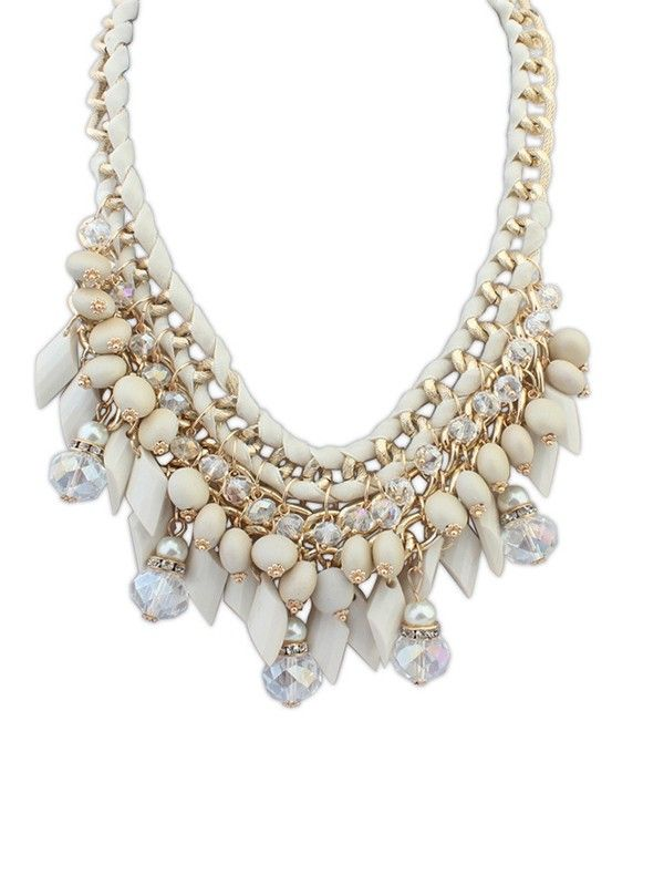 Beautiful Exaggerate Beads Necklace