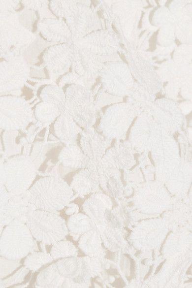 SEA - Appliquéd Guipure Cotton-lace Mini Dress - White - US2