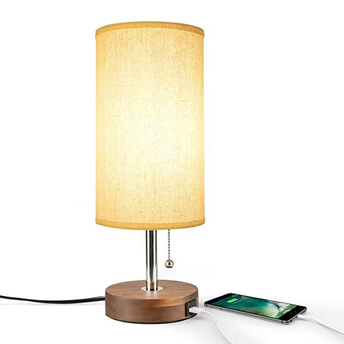 Usb Table Lamp Bedside Desk Lamp Seealle Modern Nightstand Lamp