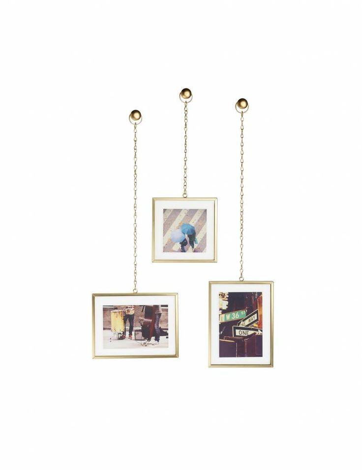 Gouden fotokaders, set van 3. Te koop op www.yellowsky.shop            #gold #goud #fotokader #foto #muurdecoratie #muur #woonaccessoires #interieur