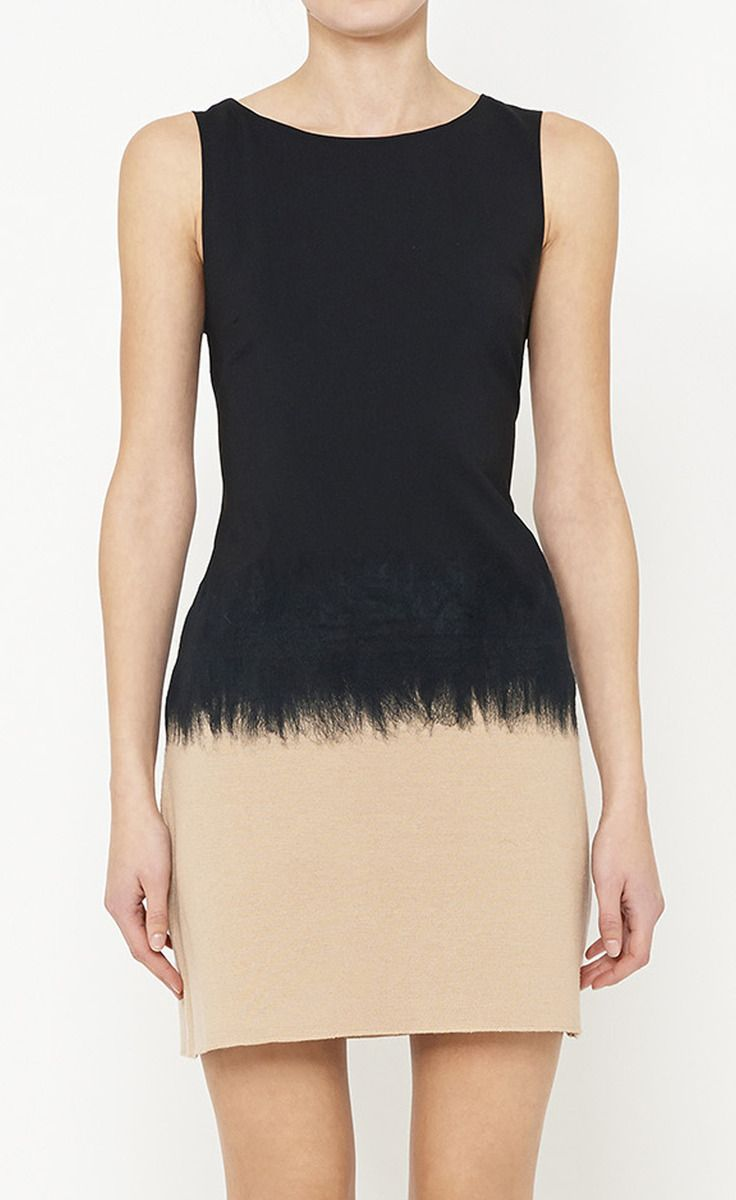 Alice + Olivia Black And Camel Dress