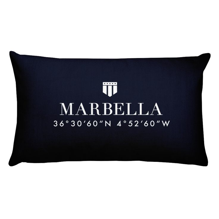 Marbella Spain Pillow with Coordinates