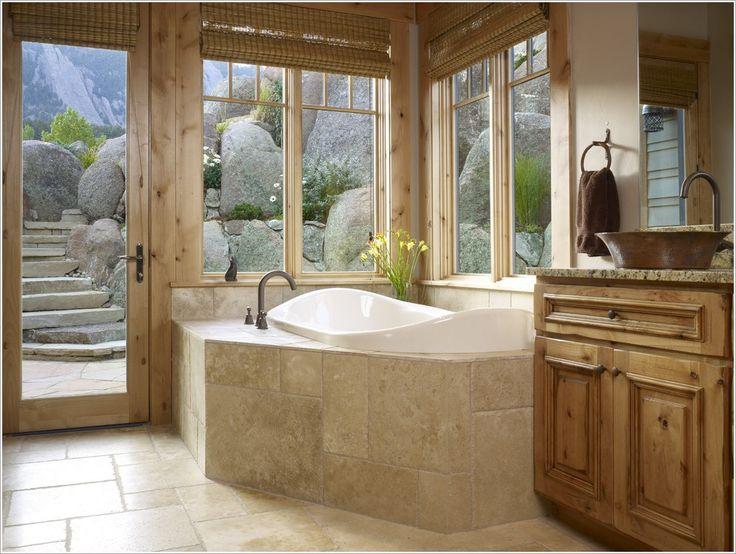 bathroom traditional denver bath built  tub cabin corner