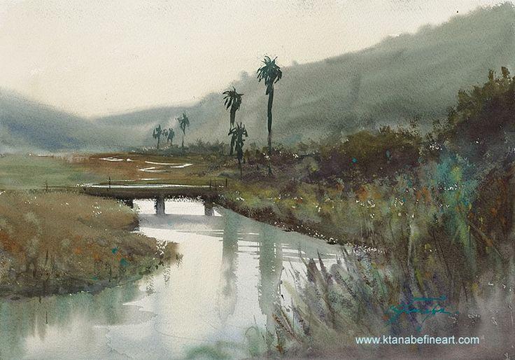 """""""Los Peñasquitos Marsh (San Diego, California)"""" watercolor plein-air sketch by Keiko Tanabe"""