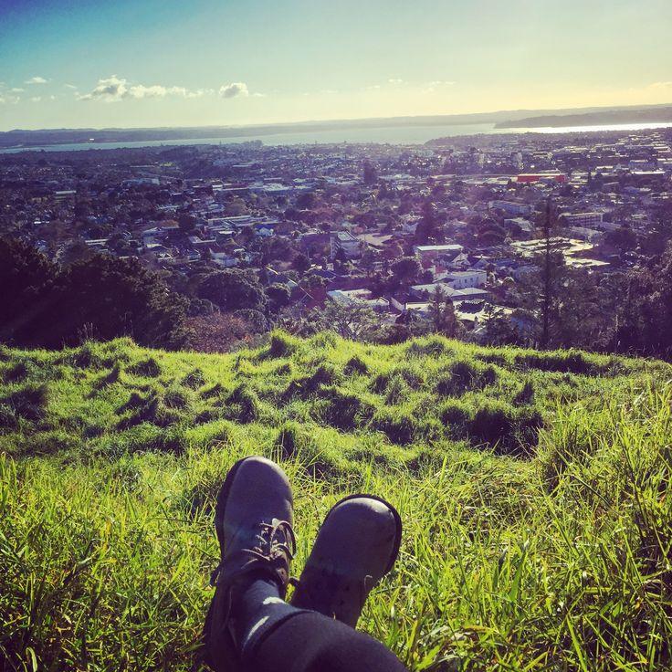 Top of Mount Eden, NZ