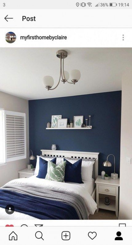 New Wall Accent Paint Navy Blue Ideas Wall In 2020