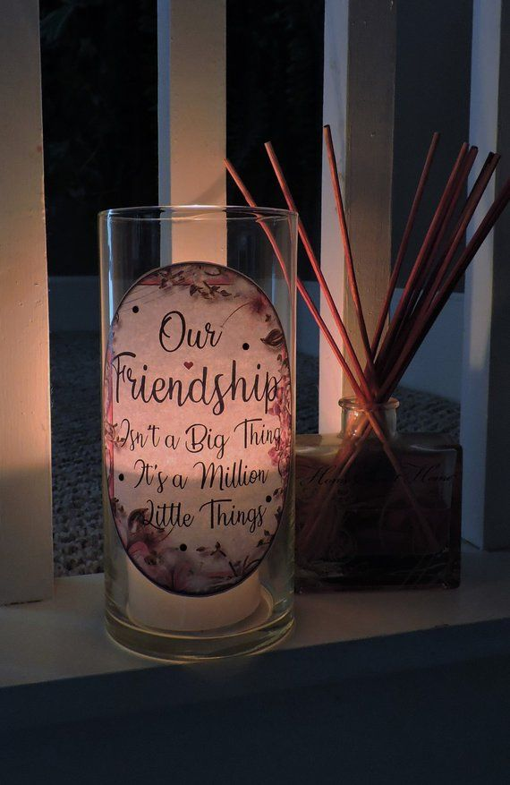 gift for friends smile friendship, let/'s laugh Illuminated picture frame for birthday great gift for best friends