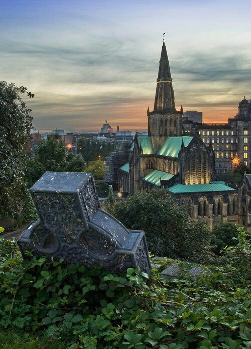Glasgow Cathederal, view from necropolis