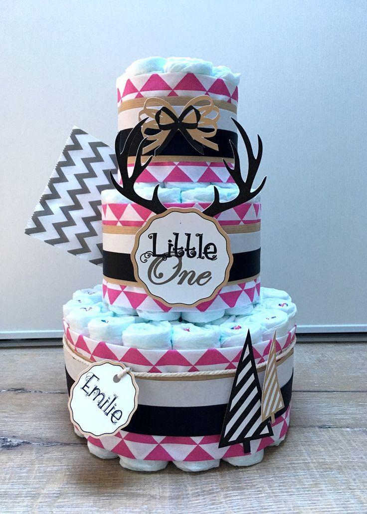 Gâteau de couches fille décoration bébé : Décoration pour enfants par cha-choux