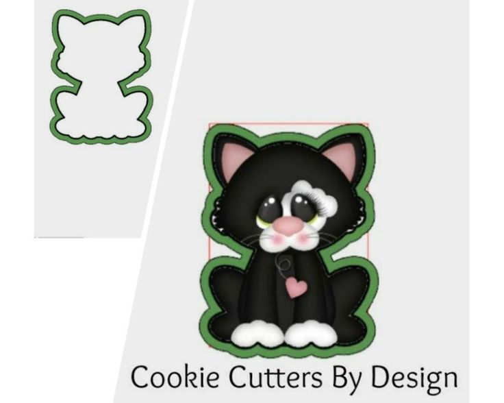 Valentine's Cookie Cutter / Cat Cookie Cutter / Kitten Cookie Cutter / Kitty Cookie Cutter / 3D Printed Cookie Cutters / Cookie Cutters by CookieCuttersByDsgn on Etsy