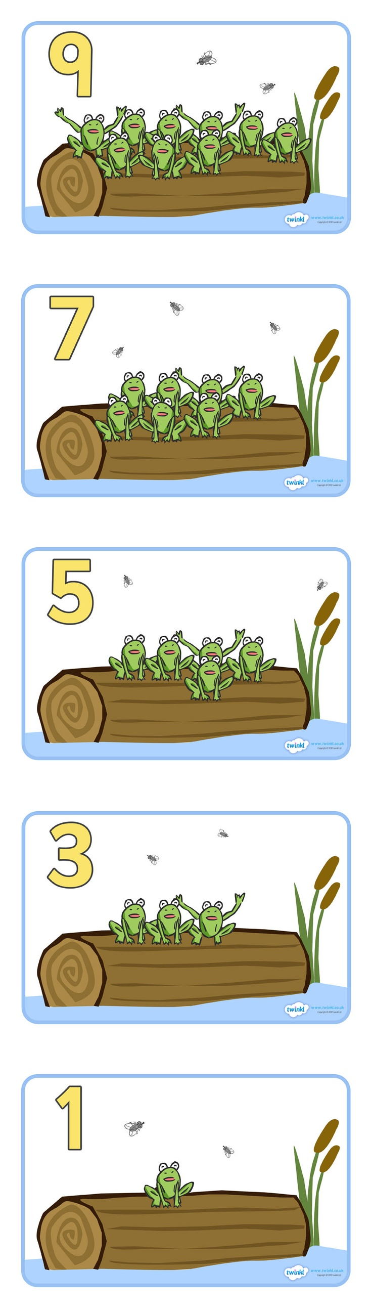 Countdown Display Posters (10 Speckled Frogs )  - Pop over to our site at www.twinkl.co.uk and check out our lovely Numeracy primary teaching resources! numeracy, maths, countdown, posters #Numeracy #Numeracy_Resources