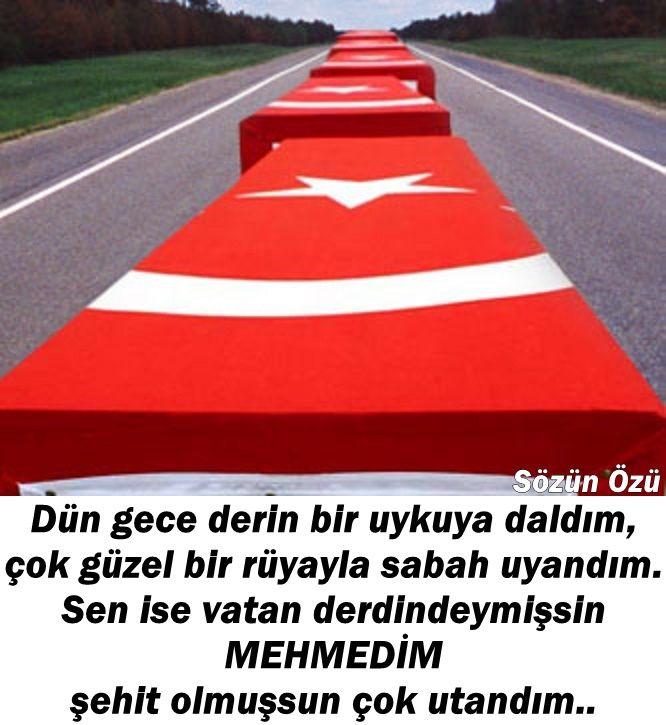 Şehitler ölmez!!!! Öldürmeyiz içimizdeki şehitliği. Bâtıla karşı gerekirse bin kez şehit olmaya can atarız!!