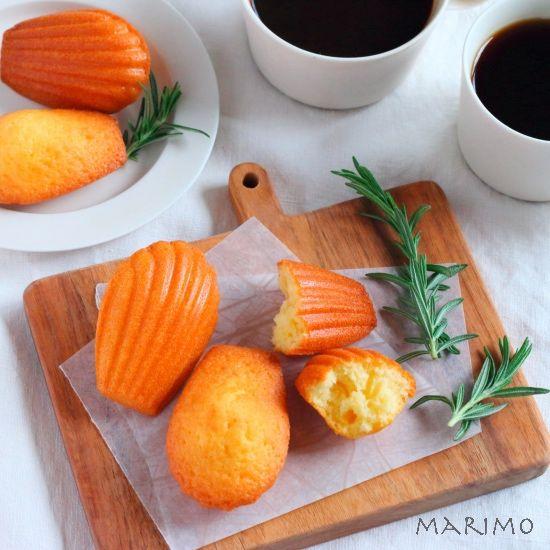 レモン風味のマドレーヌ【レシピ】 marimo cafe