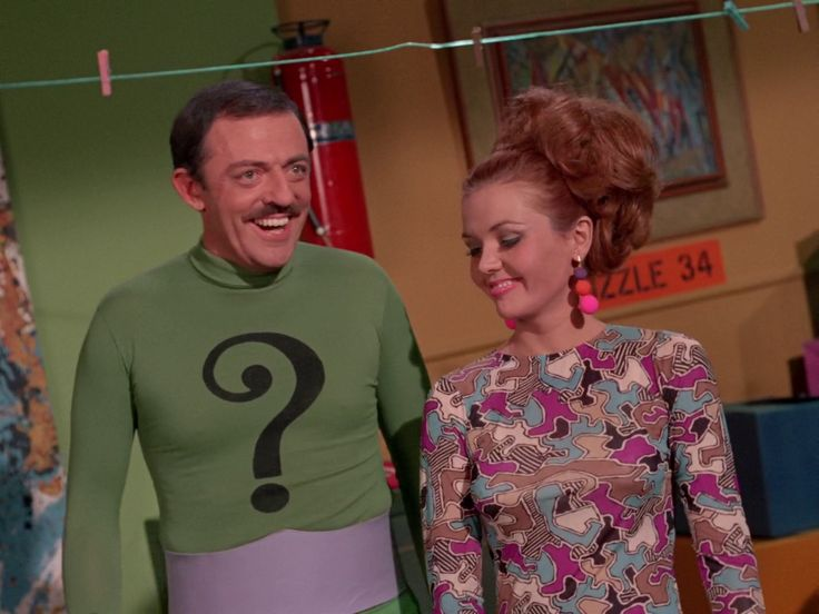 Batman, Batman's Anniversary    Episode aired 8 February 1967 Season 2 | Episode 45, John Astin  The Riddler, Deanna Lund	.	 Anna Gram