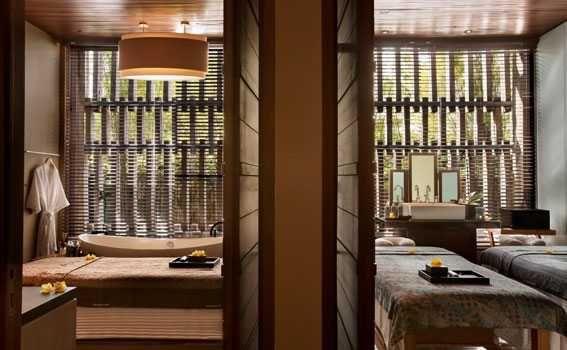 Seminyak spa's room with bathtub